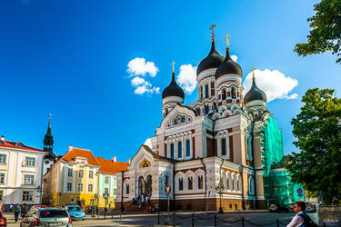 Russian church in Tallinn by Rikitza