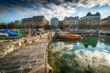 Geneva from the lake by Rikitza