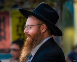Happy man in Tel Aviv by Rikitza