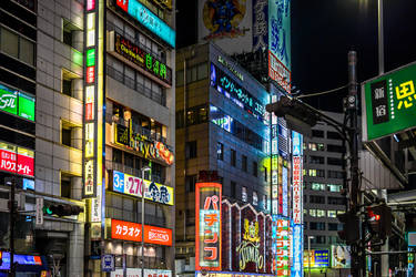 night colors in Tokyo by Rikitza
