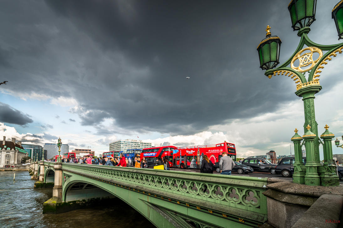 along the Westminster bridge by Rikitza