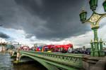 along the Westminster bridge