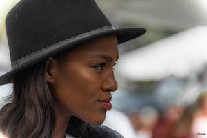 Tel Aviv girl with hat by Rikitza