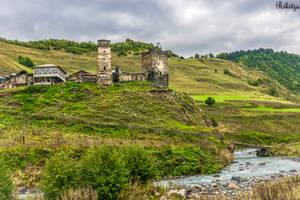 The stone towers of Svaneti by Rikitza
