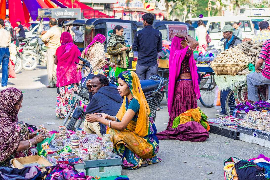 Incredible India - market day in Udaipur by Rikitza
