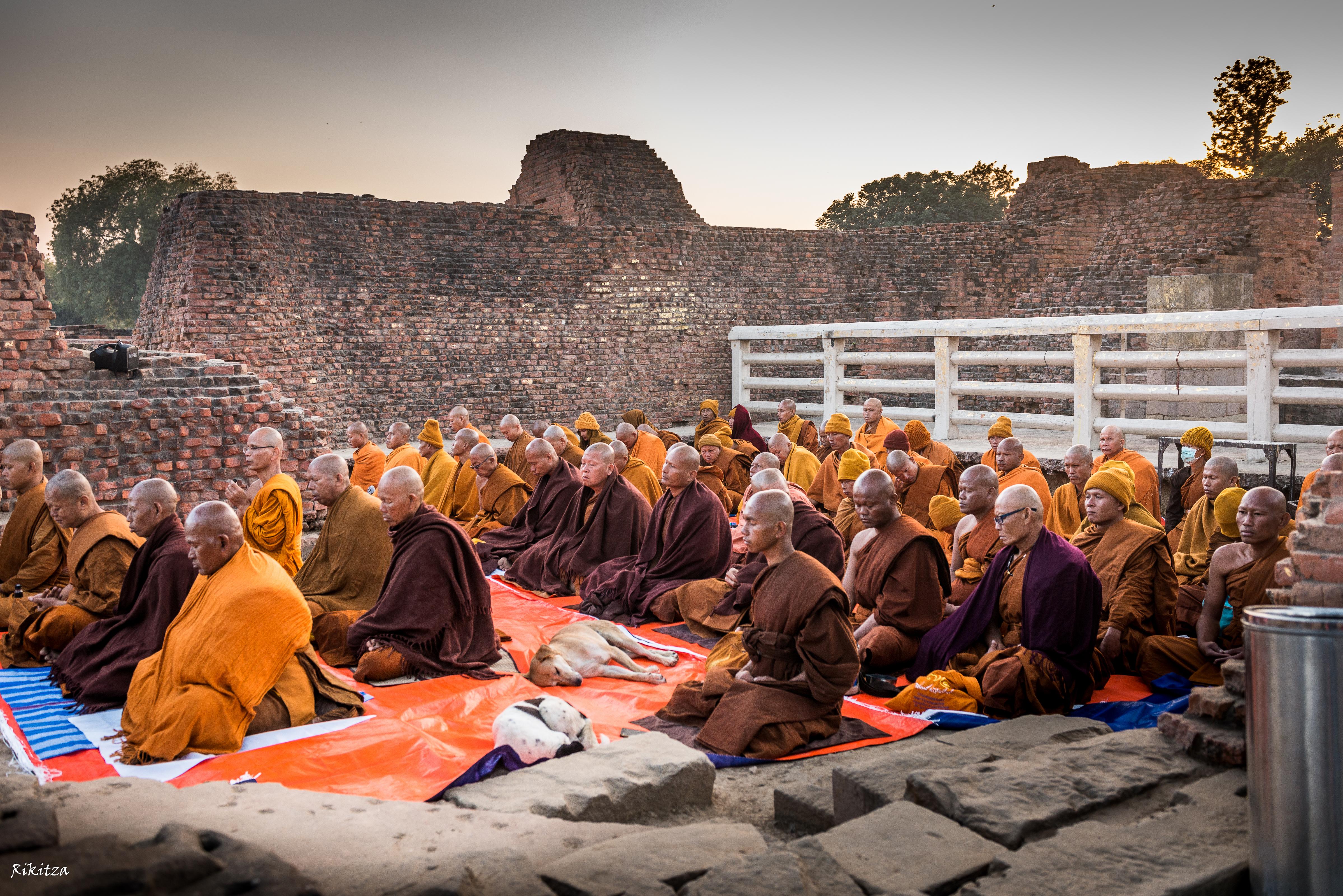 Incredible India - meditation in Sarnath by Rikitza