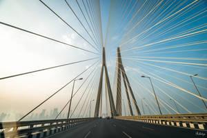 Incredible India - on the bridge in Mumbai by Rikitza