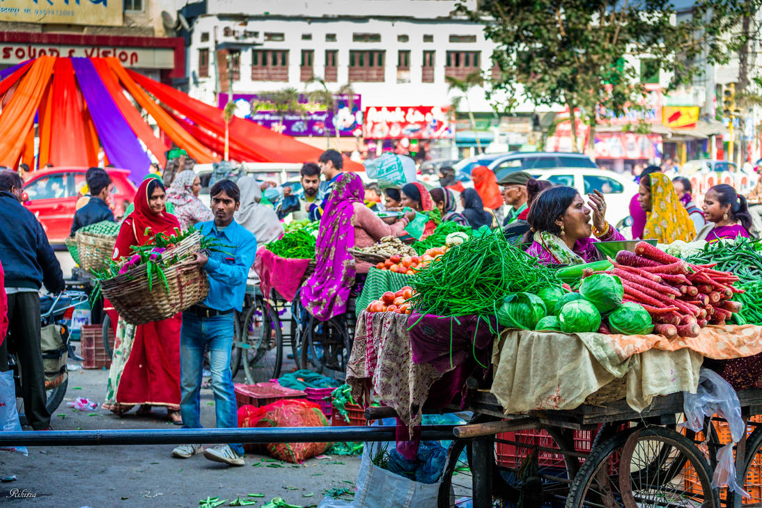 Incredible India - busy market day by Rikitza