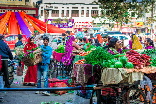 Incredible India - busy market day
