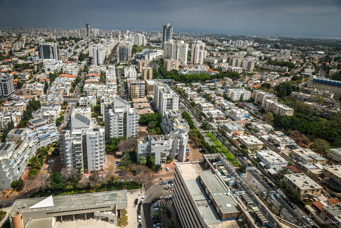 roofs of Tel Aviv - Givatayim by Rikitza