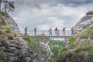 Deutschland, Deutschland - tourists in Bastei by Rikitza