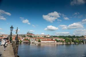 Czech paradise - vltava from the Charles bridge by Rikitza