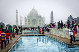 Incredible India - reflections at Taj Mahal by Rikitza