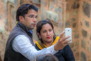 Incredible India - double selfie in Delhi by Rikitza