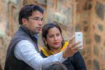 Incredible India - double selfie in Delhi