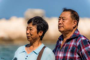 tourists couple enjoying Jaffa by Rikitza