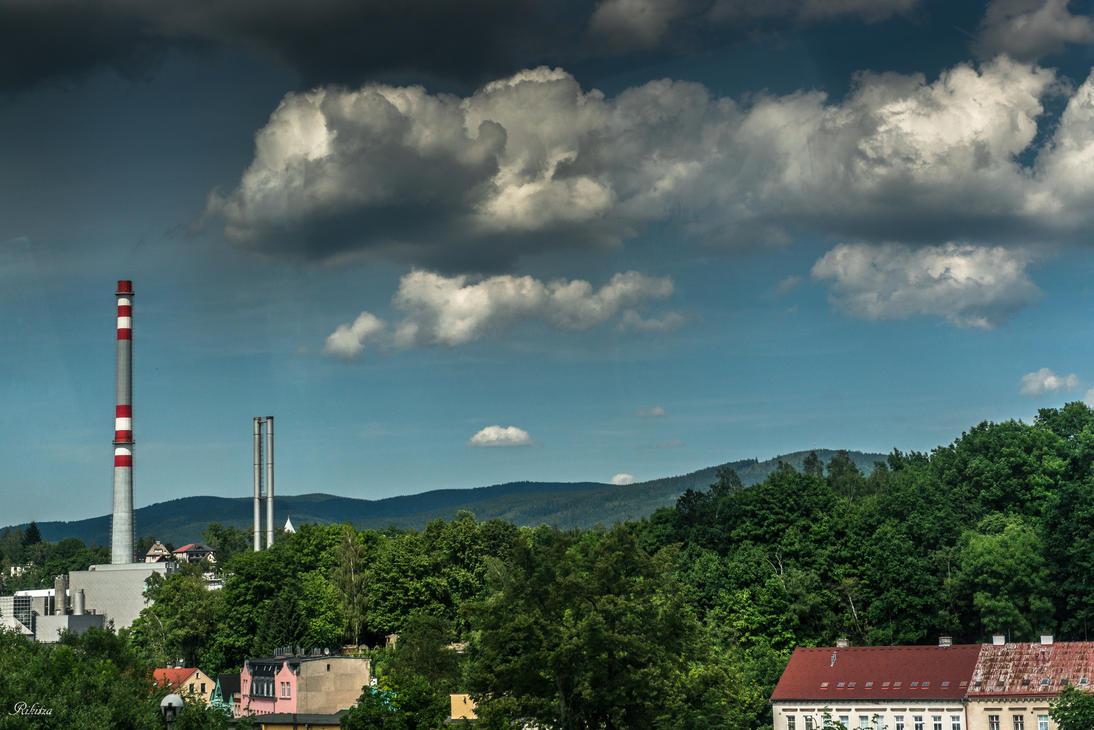 Czech paradise - Industrial sky at Liberec by Rikitza