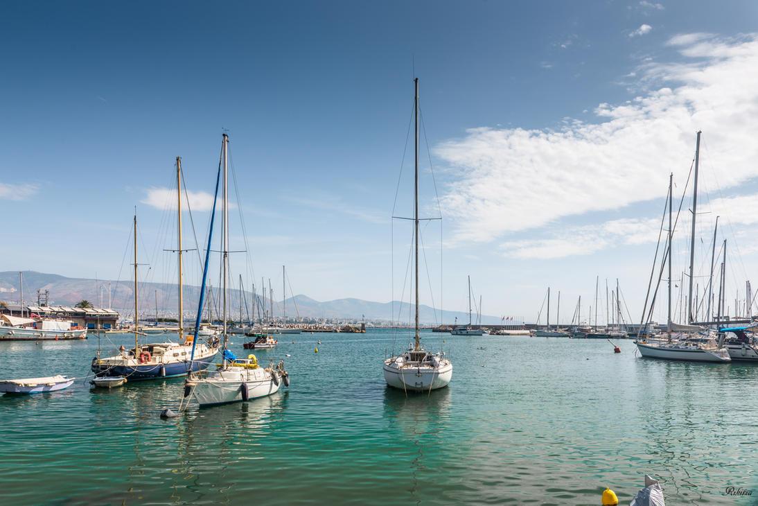 Greece - Aegean sea at Piraeus by Rikitza
