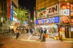 a corner in Shinjuku night