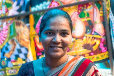Incredible India - local vendor in Mombai by Rikitza