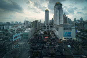 Bangkok with love - view from the hotel window by Rikitza