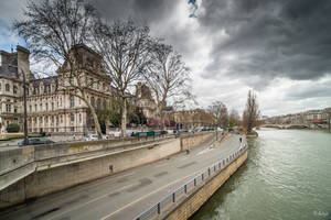 Paris the city of lights - view by Hotel de ville by Rikitza