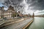 Paris the city of lights - view by Hotel de ville