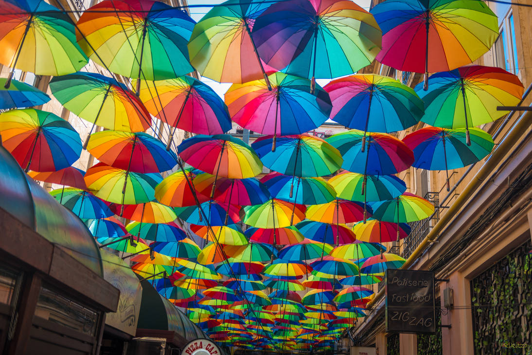 Bucharest my hometown -umbrellas ZIG ZAG to MARIUS by Rikitza