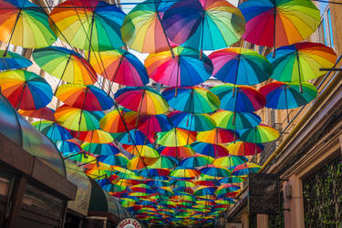 Bucharest my hometown -umbrellas ZIG ZAG to MARIUS by Rikitza