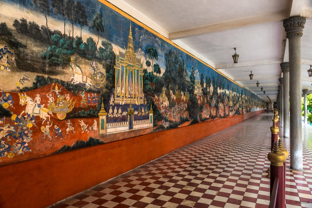 Khmer imperium - art at the Royal corridor by Rikitza
