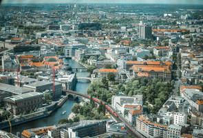 mein Berlin - view from the Fernsehturm by Rikitza