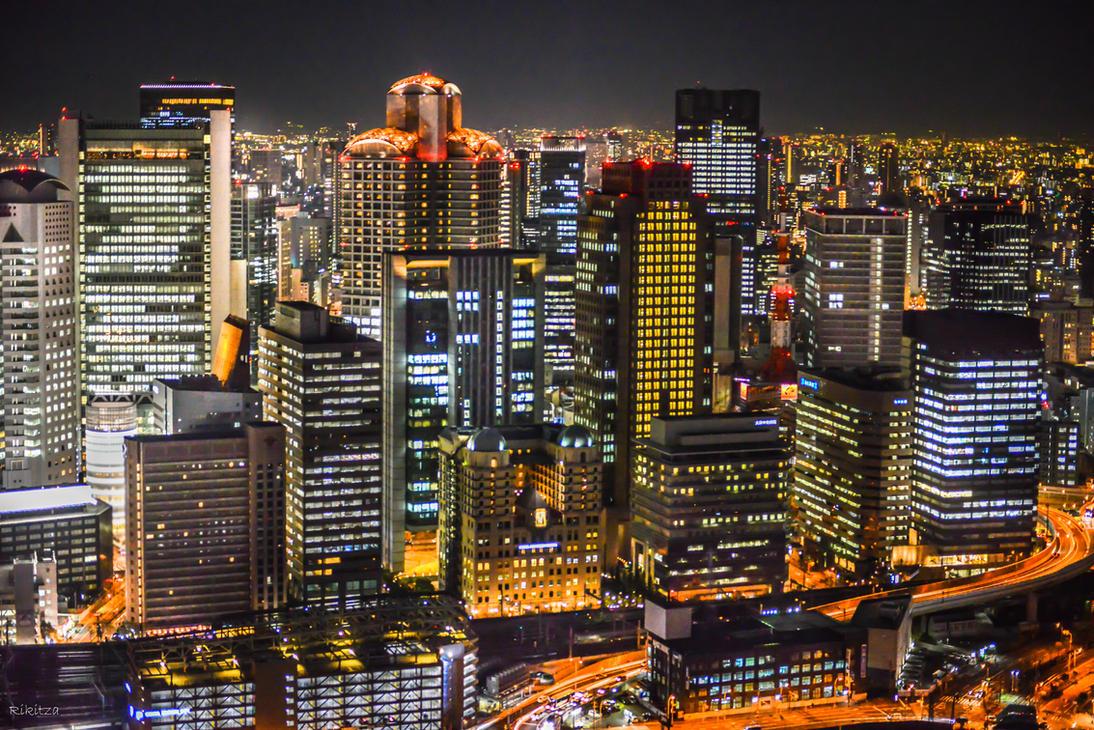 land of rising sun - Osaka night once more by Rikitza