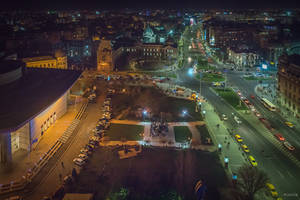 Bucharest my hometown - night from above by Rikitza