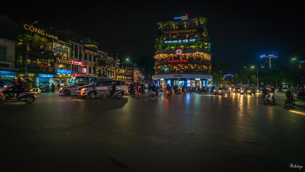 good morning Vietnam - night over Hanoi by Rikitza
