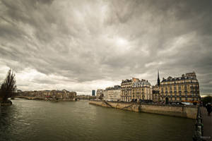 Paris the city of lights - View on the Seine by Rikitza
