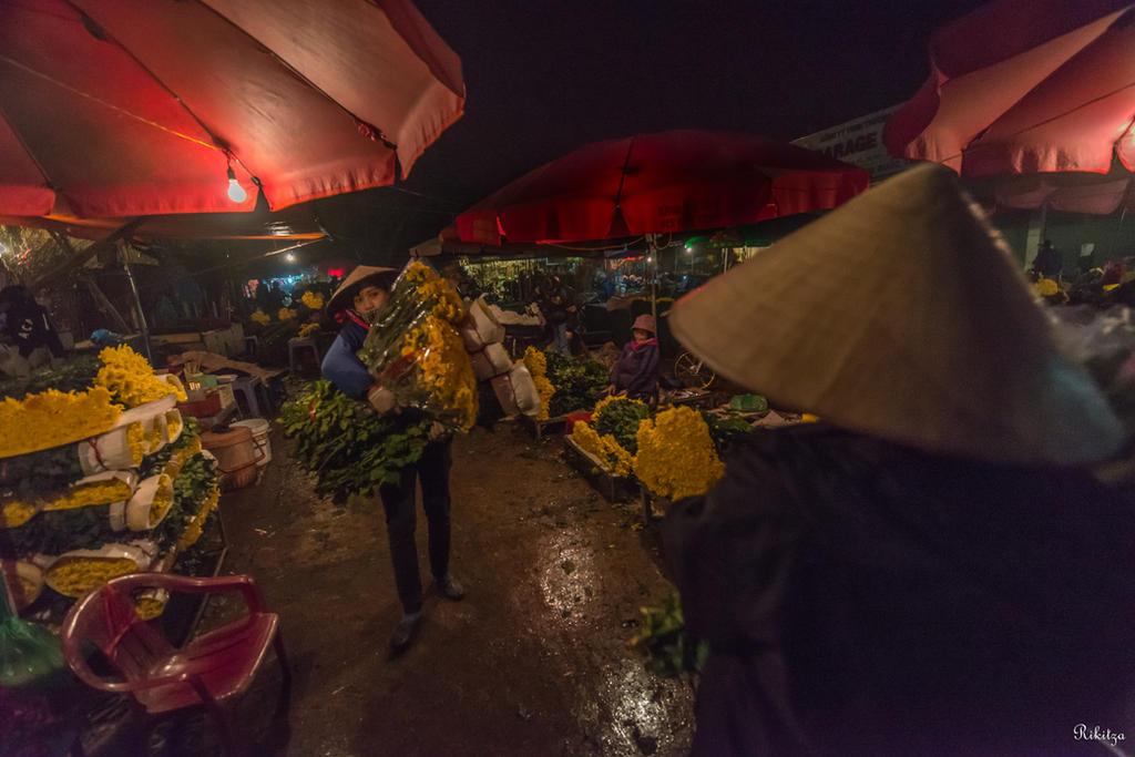 good morning Vietnam - flowers in Hanoi by Rikitza