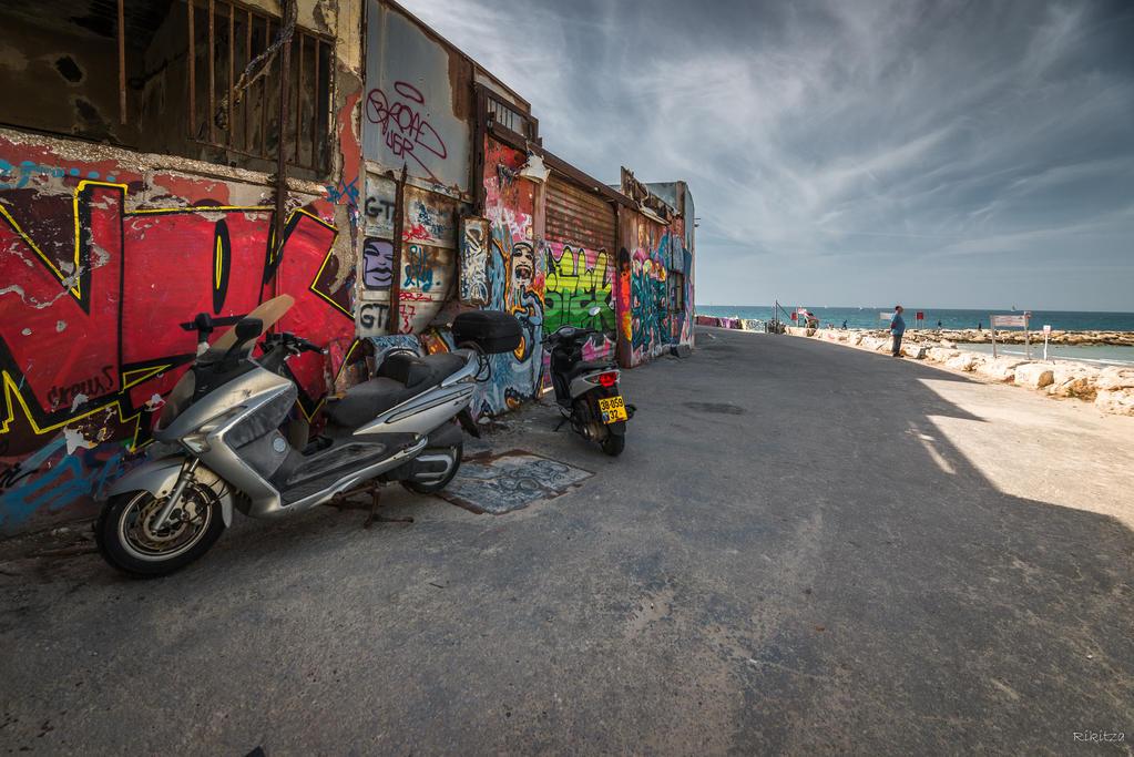 my Tel Aviv - graffiti at the sea by Rikitza