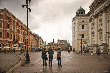 three graces exploring Warsaw by Rikitza