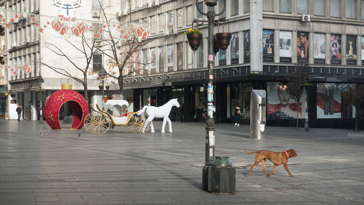 Heroic Serbia - Belgrade pedestrian zone by Rikitza