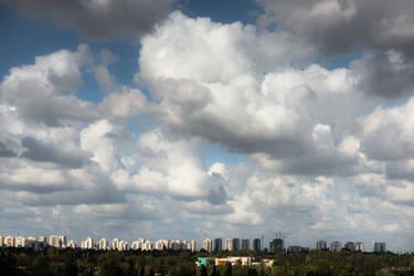 always Tel Aviv - sky from my window by Rikitza