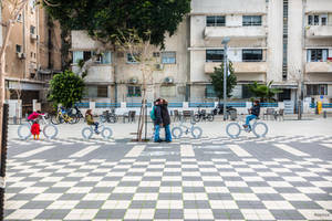 always Tel Aviv - bikes on a chess table by Rikitza