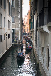 fascinating Venice - gondolae in a canal by Rikitza
