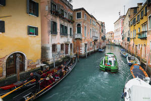fascinating Venice - colors in a canal by Rikitza