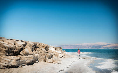 our Israel - alone at the Dead Sea by Rikitza