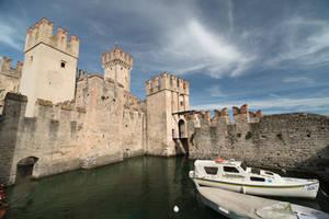 castle in Sirmione by Rikitza