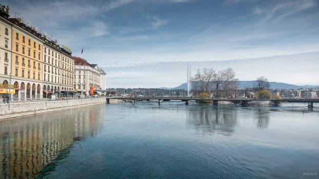 Geneva I love - blurred reflections