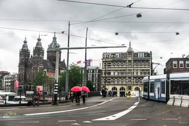 along the Rhein - city view Amsterdam by Rikitza