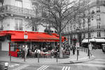 Paris city of lights - a corner in red