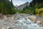 rapid waters in the Svaneti region
