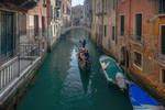 on a canal in Venice